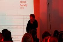 Professor Ruth Morrow introducing Street Society - Skyline Building, Newtownards Road