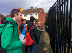 The students visit the site located at MacArthur Court - Pitt Park Women's Group